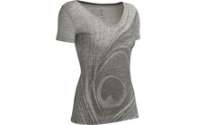 Icebreaker Harmony Feather t shirt Femme SS,  BF150 gris